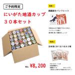 【予約限定】にいがた地酒カップ30本セット
